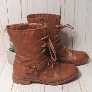 Forever Brown / Tan Boots / Shoes 8 Zipper Sides